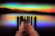 Derwent Water Jetty At Dusk von Derek Beattie