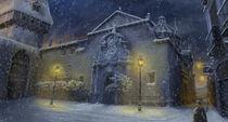 Snowy church by tharmine
