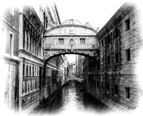 Bridge of Sighs - Pencil by Jenny Hudson