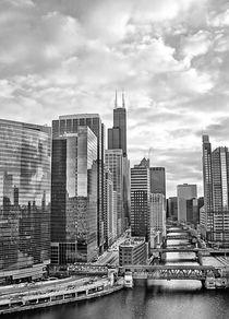 Chicago Cityscape BW by Jenny Hudson