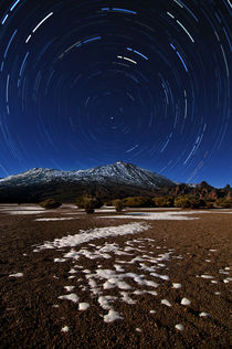 Teide star trails by Raico Rosenberg