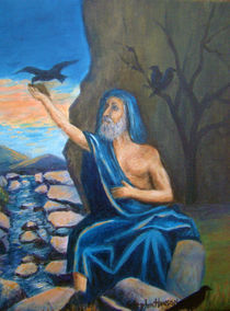 Biblical Scene of Elijah Fed by the Ravens von Stephen hanson