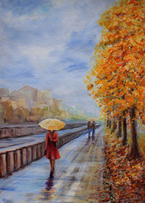 Promenade with an umbrella by Natalia Stangrit