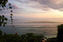 sunset waves on empty beach von Vsevolod  Vlasenko