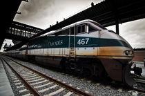 Train stop on a cloudy overcast day by Srinivasan Ramakrishnan