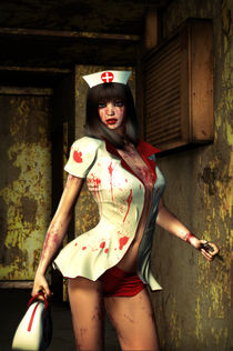 Freak Nurse Girl by Luca Oleastri