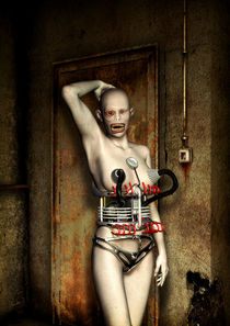 Freak robot girl by Luca Oleastri