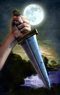The knife under the moon by Luca Oleastri