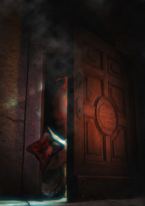The monster on the door by Luca Oleastri