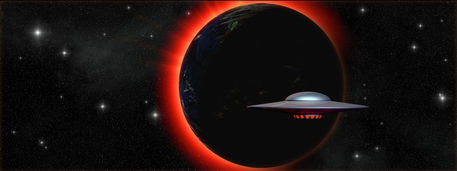 Spaceship-ufo-and-planet