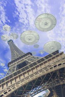 UFO over Paris von Luca Oleastri