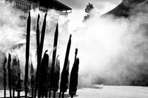 Joss sticks fill the air with their clouds by Srinivasan Ramakrishnan
