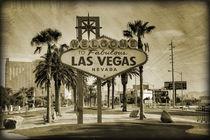 Welcome To Las Vegas Sign Series 2 of 6 Sepia Grunge von Ricky Barnard