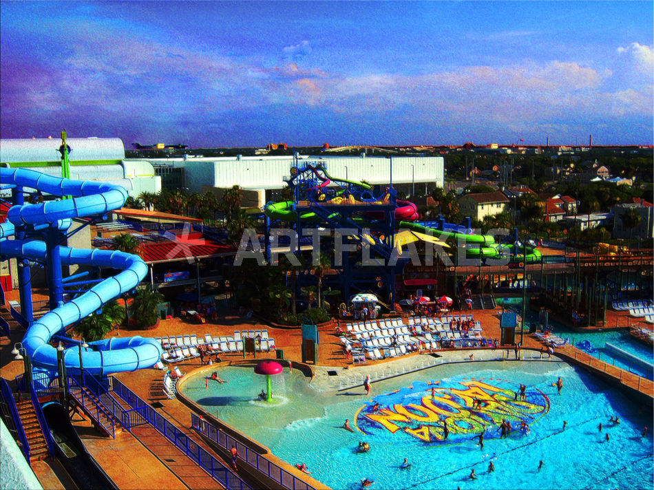 Water Park In Tropical Daytona Beach