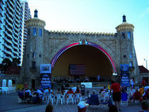 Daytona Beach Bandshell Patriotic Retrofit Digital Art by Blake Robson