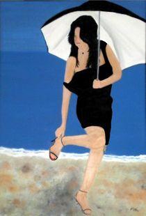 Woman on the beach by Mark Shearman
