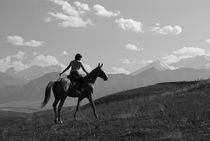 Rider in the mountains von Victoria Savostianova