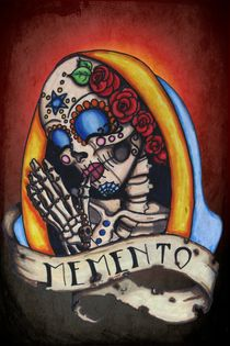 "Praying Sugar Skull ""Memento"" by shayneofthedead"