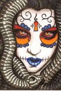 Medusa Sugar Skull von shayneofthedead
