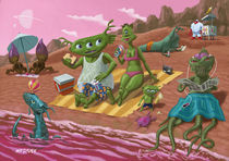 alien beach vacation von Martin  Davey