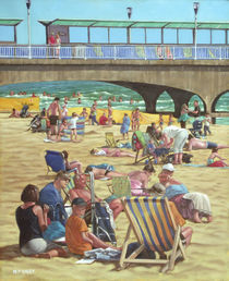 people on bournemouth beach von Martin  Davey