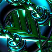 jammer blue green flux by First Star  Art