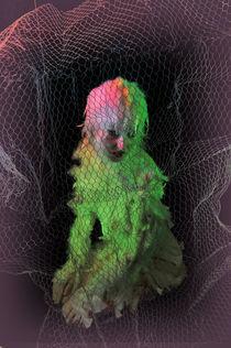 vogelmensch in käfig von Barbara Karav