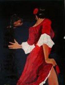 Dancer and guitarist  by Mark Shearman