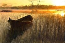 Wooden Boat in The Reeds by Randy Sprout