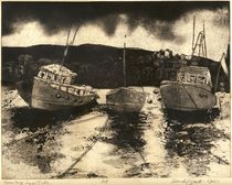 Staithes Etching Work by Randy Sprout
