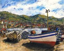 Corfu Beached Fishing Boats  von Randy Sprout