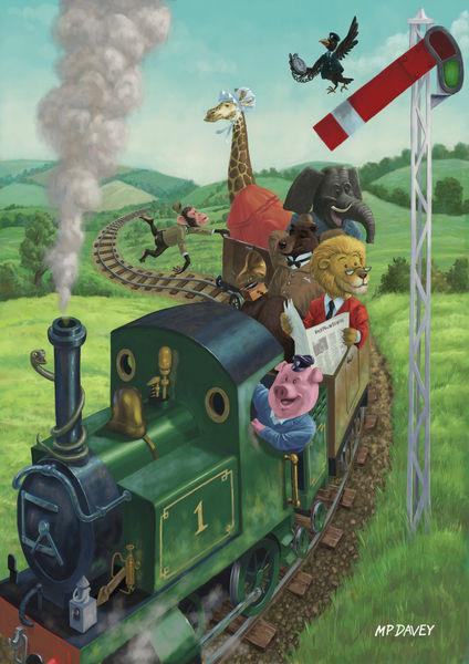 Animal-train-flat-signed