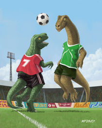 dinosaur football sport game von Martin  Davey
