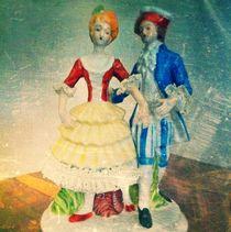 Boy and girl figurine by Jinnie Davel