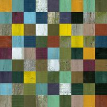 Abstract Wooden Collage 81 von Michelle Calkins