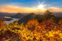Golden hour at Boyd's Gap Overlook, Cherokee National Forest, Tennessee, USA by Debra and Dave Vanderlaan