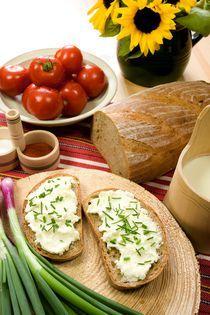 Cottage cheese with chive von Peter Zvonar