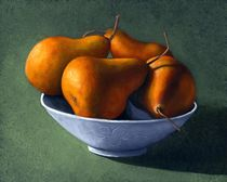 Pears in Blue Bowl von Frank Wilson
