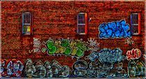 Graffiti. Signs on Walls. Bronx. NY von Maks Erlikh