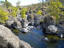 Giant Basalt Boulders Swimming Hole by Frank Wilson
