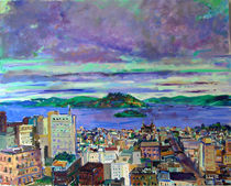 Morning Clouds Over San Francisco von Zolita Sverdlove