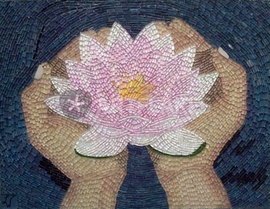 The lotus flower painting art prints and posters by liza wheeler lotusflower mightylinksfo