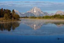 Grand Teton morning by Johan Elzenga