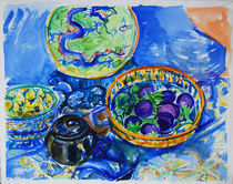 Dragon Plate Still Life by Zolita Sverdlove