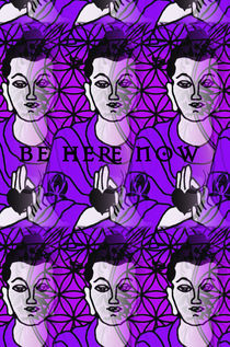 Be Here Now Buddha by regalrebeldesigns