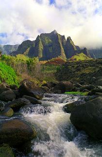 Kalalau Stream and Spires von Kevin W.  Smith