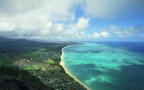 Waimanalo Bay Windward Oahu by Kevin W.  Smith