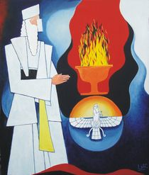 Fire and the Parsi priest by Lalit Kumar Jain