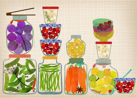 Bottled-pickles-and-fruits