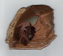 Portrait of a Buffalo by Syl Lobato